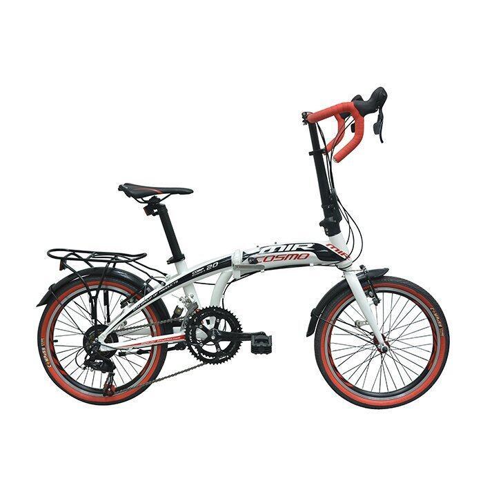 MIR จักรยานพับแฮนด์หมอบ 20 นิ้ว ตัวถัง ALLOY เกียร์ SHIMANO 14 SPEED รุ่น COSMO (สีขาวแดง)