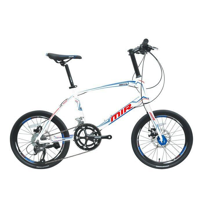 MIR จักรยาน MINI 20 นิ้ว ตัวถัง ALLOY เกียร์ SHIMANO ALTUS 18 SPEED รุ่น PERTITO (สีขาว/ฟ้า)