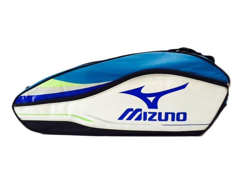 MIZUNO กระเป๋าแบดมินตัน (สีฟ้า/ขาว)