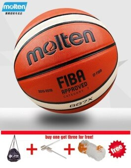 Molten GG7X Basketball Ball PU Materia Official Size7 Basketball indoor and outdoor Ball Training Equipment Free With Net + Bag and Needle - intl