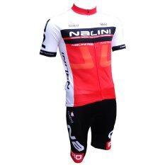Morning ชุดปั่นจักรยานผู้ชาย Nalini (สีขาว/สีแดง)