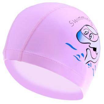 ราคา Mosha Fashions หมวกว่ายน้ำ สำหรับเด็ก PU (สีชมพู) รหัส SWGK-06