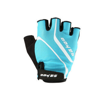 Mountain Road Anti-slip Bicycle Gloves MTB GEL Breathable CyclingBike Fitness Men Half Finger Glove Blue