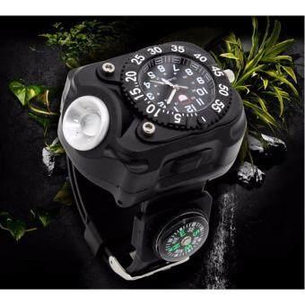 นาฬิกาข้อมือพร้อมไฟฉาย Waist Wahtches lights สีดำ