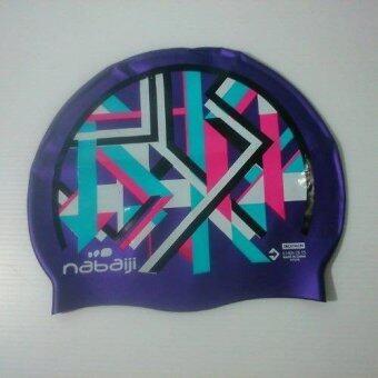 2561 Nabaiji หมวกว่ายน้ำซิลิโคน GRAPH (สีม่วง) มาตราฐานยุโรป