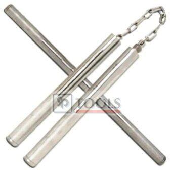 Nanchaku Combo Double Stick กระบองเหล็ก 2 ท่อน ต่อยาวได้ - สแตนเลส
