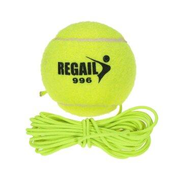 Natural Rubber Synthetic Wool Fiber Tennis Ball Dog Training TennisBall With String - intl