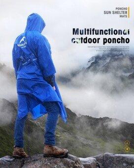 Naturehike 3 ใน 1 สารพัดประโยชน์เสื้อปอนโชเสื้อกันฝนสำหรับเดินป่าตกปลาปีนเขา NH17D002-M - นานาชาติ