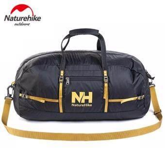 Naturehike กระเป๋าเดินทาง กันน้ำ ขนาด 38L แบบพับเก็บได้ง่าย - สีดำ