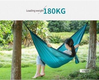Naturehike Outdoor Camping เปลญวนผ้า Ultralight แบบพกพาไต่เขาแขวนเต็นท์เตียงนอนปิคนิคเปลญวนแกว่ง