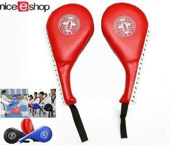 niceEshop 2 คิกบ๊อกซิ่งคาราเต้เทควันโดเตะเบาะ ป, ล, การฝึกเตะเป้าสีแดง