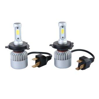 niceEshop Car LED Headlight Bulbs H4 9003 Super Bright Car Headlights High Low Auto Conversion LED Lamps 6500K White Lamps - intl