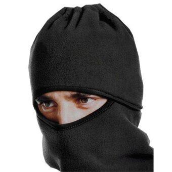Nifty Well หน้ากากกันฝุ่น ผ้าพันคอกันหนาว หมวกผ้าคลุมศรีษะ (สีดำ)