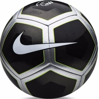 Nike ลูกฟุตบอลหนัง PITCH PL Football Soccer Ball SC2994022 blackgray Size 5