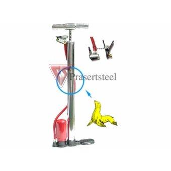 ที่สูบลมจักรยาน มีหม้อพัก ตราแมวน้ำ มือจับเหล็กโครเมี่ยม no.9011ขนาด 38x500 mm (1 อัน)