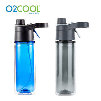 O2COOL HMRD18A Mistn Sip Misting Hydration Sports Bottle (Grey) -intl