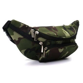 Harga OH Fanny Pack Traveling Hiking Money Passport Storage Multi PocketsZipper Bag Camouflage - intl