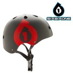 หมวกจักรยาน ฟรีฟองน้ำปรับขนาด One Size SixSixOne 661 รุ่น Dirt Lid STACKED