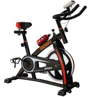 OneTwoFit จักรยานปั่นออกกำลังกาย S300 Spin Bike Ex Spinning Bike (สีดำ)
