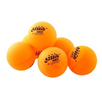 Harga Outdoor 6Pcs 3 stars DHS 40MM Olympic Tennis Orange Ping Pong BallsTrainning Durable - intl