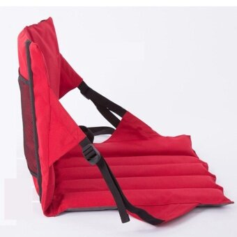 Outdoor Camping Hiking Stadium Seat Padded Folding Chair Bleacher Cushion Sports Boat Red - intl