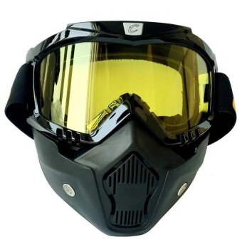 Outdoor Motorcycle Goggles Mask Cycling UV400 Anti Wind Sports Ski Glasses - intl