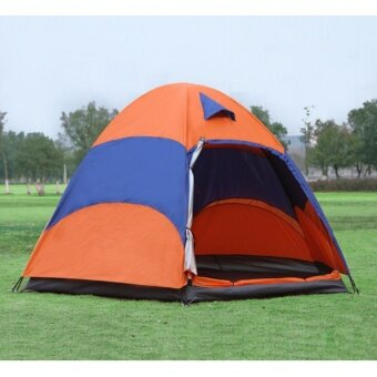 Outdoor tent factory direct 5-8 multi-person double rain campingcamping hexagonal leisure beach tents - intl