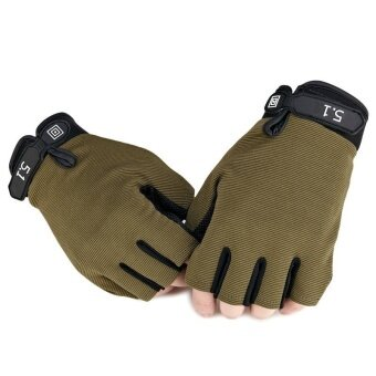 Paintball Outdoor Sport Army Tactical Fitness Cycling Gloves Military Fingerless Men () (Intl) - intl