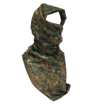Parbuf ผ้าพันคอ ผ้าชีมัค LYGRA FABRIC ลายทหาร รุ่น MS.001