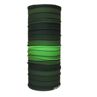 PARBUF ผ้าบัฟ ป้องกัน UV ผ้าโพกหัว เนื้อผ้า COOL-MAX รุ่นเย็นป้องกัน UV80+ 002 (สีเขียว)