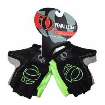 Pearl iZUMi ถุงมือปั่นจักรยานแบบมีเจลตรงฝ่ามือ รุ่น Pearl (Black/Green)