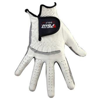 PGM Men's Golf Gloves Leather Breathable Slip Left Hand Glove RightHand Glove (White) - intl