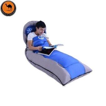 ถุงนอนแบบพกพาอุปกรณ์เสริมเดินทาง Liner สำหรับ outdoor Camping (สีฟ้า)