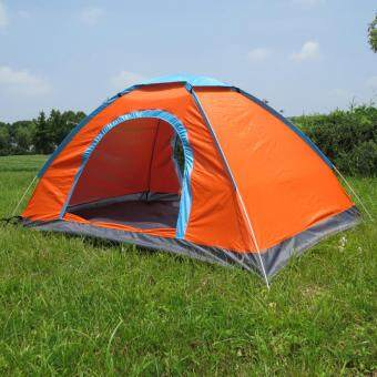 Portable outdoor automatic tent 3-4 people camping tentเต็นท์นอนแค้มปิ้ง Orange