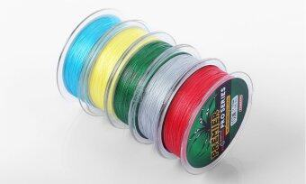 PROBEROS 100M PE 4 Strands Monofilament Braided Fishing LineAccessory 10LBS(Yellow) - 4