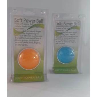 ราคา ลูกบอลเจลบริหารมือ สีส้ม+สีฟ้า(แรงบีบระดับปานกลาง+หนัก)