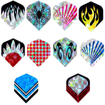 Professional 10 sets 30 pcs 2D Dart Flights Laser Darts Tail WingFlight - intl