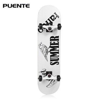 PUENTE 602 ABEC - 9 Four-wheel Double Snubby Maple Skateboard forEntertainment - intl