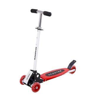 QNIGLO Foldable Four 4 Wheels Scooter with Flash Wheels