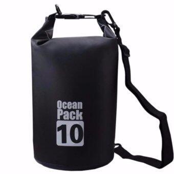 ซื้อ/ขาย QQ SHOP กระเป๋ากันน้ำ Ocean Pack 10L สีดำ