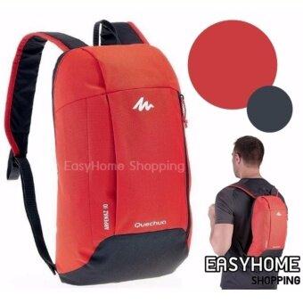 กระเป๋าเป้กันน้ำ QUECHUA รุ่น ARPENAZ 10L WATERPROOF BACKPACK -สีแดงดำ