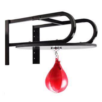 Red Boxing Pear Shape PU Speed Ball Punching Exercise SpeedballSpeed Bag Punch Fitness Training Ball - intl