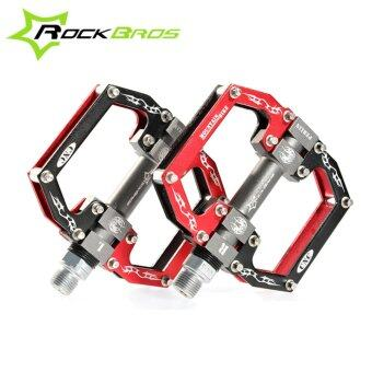 ROCKBROS HOT Sale MTB Ultralight Bike Bicycle Pedals Mountain RoadBike Pedal Cycling Aluminum Alloy 3 Styles Hollow Pedals(A Red) -intl