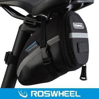 Roswheel อานจักรยานกระเป๋าหางด้วยเวลโคร (สีดำ)