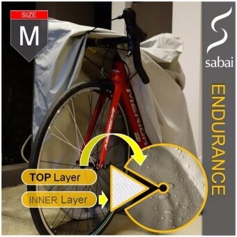 sabai cover ผ้าคลุมจักรยาน - รุ่น ENDURANCE - [ SIZE M ] Bicycle Cover Free size / Standard size