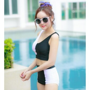 Sasisy Brand ชุดว่ายน้ำ รุ่น SSS-1601(Black)