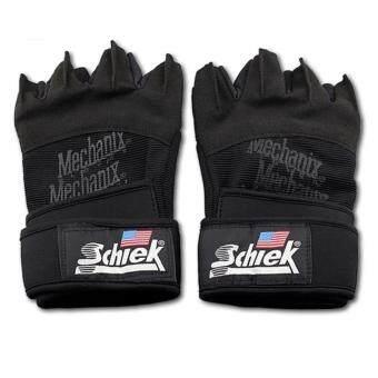 ราคา Schiek ถุงมือยกน้ำหนัก ถุงมือฟิตเนส Fitness Glove (Black)