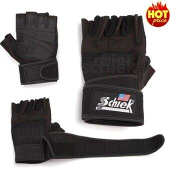 ราคา Schiek ถุงมือยกน้ำหนัก ถุงมือฟิตเนส Fitness Glove รุ่น Sk-01039(Black)