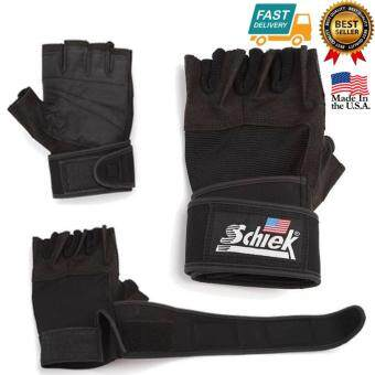 Schiek LIFTING GLOVE ถุงมือยกน้ำหนัก ถุงมือฟิตเนส Fitness Glove Size XL (Black)