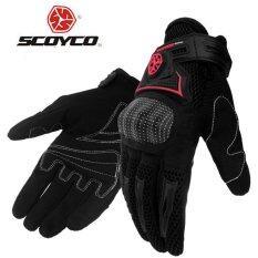 Scoyco MC23 Motorcycle Racing Accessories Bike Bicycle Full Finger Protective Gear Gloves Black - intl